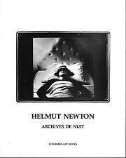 Helmut Newton: Archives de nuit (Schirmer art books on art, photography & eroti