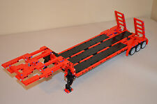 "NEW LEGO TECHNIC RED/BLACK CUSTOM FLATBED TRAILER 25""-Long 8258/8285/8436/9397"