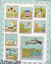 Sunday Ride - gorgeous pieced & applique quilt PATTERN - Cherry Blossoms