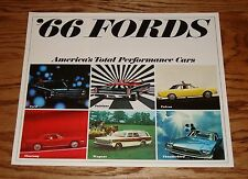Original 1966 Ford Full Line Sales Brochure 66 Mustang Thunderbird Falcon
