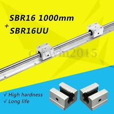 Support Linear Rail SBR16-1000mm Optical Axis Guide+2 SBR16UU Bearing Blocks CNC
