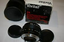 NEW OLD STOCK 2x Vivitar Macro Tele converter LENS 1:1 for CONTAX YASHICA CAMERA
