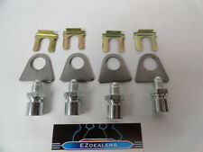 """Brake Line kit Adapters -4 AN to 3/16"""" Inverted Flare, brake line tab & clip"""