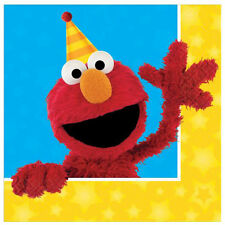 SESAME STREET Stars LUNCH NAPKINS (16) ~ Birthday Party Supplies Large Dinner