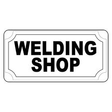 Welding Shop Black Retro Vintage Style Metal Sign - 8 In X 12 In With Holes