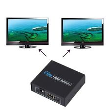 HDCP 1080P 1 in 2 Out HDMI Splitter Amplifier Dual Display For HDTV DVD PS3 JL