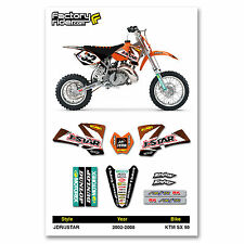 2002-2008 KTM SX 50 JDR/JSTAR Dirt Bike Graphics kit Motocross Decal Enjoy MFG
