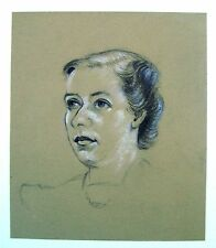 MILITARY PORTRAIT WWII A LADY WIFE OF A SOLDIER  ROBERT LYON 1941
