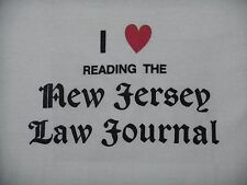 I Heart Reading the NEW JERSEY Law Journal SHIRT Large 50/50 soft LOVE