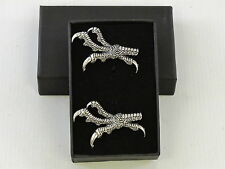 Talons Claws Raptor Bird of Prey Fine English Pewter Cufflinks Gift Mens Boxed