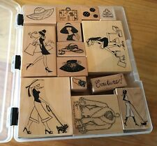 Glamour Girl Rubber Stamp by Rubber Romance Hand bag Fashion Stamps