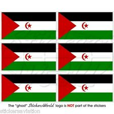 "WESTERN SAHARA Flag Africa 40mm(1.6"") Mobile Cell Phone Mini Stickers, Decals x6"
