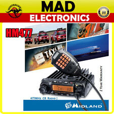 Midland HM477 5 Watt 80 CH Robust UHF CB Radio with Keypad Microphone
