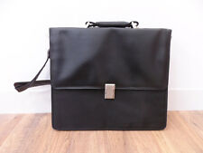 Office Business Messenger Bag Water Resist Fabric and Faux Black Leather Detail