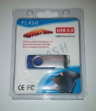 512GB USB 2.0 Flash Drive Disk Memory Pen Stick Thumb Key Storage Swivel Blue A2