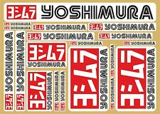 Yoshimura decal set 18 quality printed stickers + FREE Van/Transporter Sticker