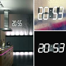 Large Digital LED Skeleton Wall Alarm Clock Timer 24/12 3D Remote Home Decor ES