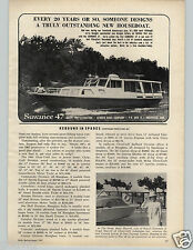 1967 PAPER AD Suwanee 47 47' Houseboat Kenner Boat Co