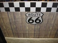 SIGN - ROUTE 66 -  Metal Construction - 1/18 & 1/24 Scale Diorama