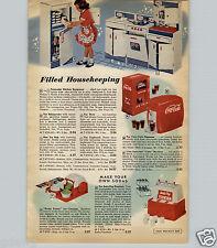 1959 PAPER AD Toy Play Coca Cola Coke Machine Fountain Dispenser