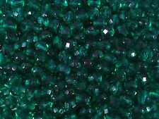 Czech Fire Polished 8mm Faceted Glass Beads 50pc Teal Green Jewelry FREE POSTAGE