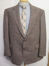 "Genuine Burberry men's brown houndstooth wool blazer Jacket 48""  Euro 58 R"