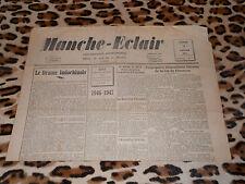 Journal MANCHE-ECLAIR, éd. du Sud de la Manche - n° 1, 04/01/1947