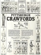 1933 PITTSBURGH CRAWFORDS 8X10 TEAM PHOTO BASEBALL PICTURE NEGRO LEAGUE