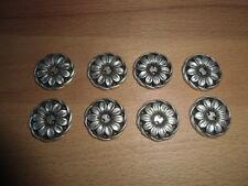 3 Metallknöpfe Knöpfe Silber Schwarz Tracht Rand durchstochen 22 mm 2 Loch NEU