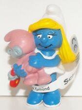 20192 Smurfette and Baby Smurf Figurine 2 inch Plastic Miniature Figure 3D Movie