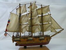 USS CONSTITUTION WOODEN SHIP 1797 REPLICA ASSEMBLED DECORATION