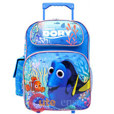 "Finding Dory Large School Roller Backpack 16"" Wheeled Trolley Bag Nemo Dory"