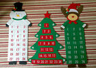 Large Christmas Snowman Reindeer Xmas Tree Fabric Felt Advent Countdown Calendar
