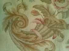 "20"" Cornucopia NeedlePoint-PetitPoint Pillow Cushion Shams with Tassels DM-37"