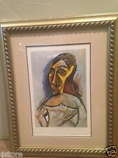 Picasso Lithograph Female Nude Study for Les Demoiselles d' Avignon Framed