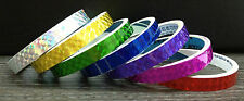 3m Coloured PRISM Tape CHOOSE from 7 COLOURS! Reflective Gift Wrap Fluorescent