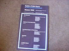 SEASON 1968  Various Shows  SADLER's WELLS Original Theatre Poster