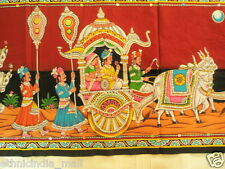 Indian Sequin Wall Hanging Cotton Fabric Tapestry Rajasthan Ethnic Decor India