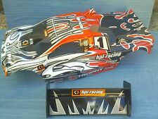 NITRO 1/8 RC TRUGGY HPI TROPHY 4.6 BODYSHELL AND REAR WING NEW