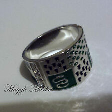 Harry Hogwarts slytherin Crest Ring green Horcrux Draco Voldemort imperfect.