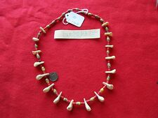 NORTHERN PLAINS BUFFALO TOOTH NECKLACE, FRENCH TRADE BEAD NECKLACE, CO P-236A