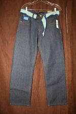 Rocawear Jeans with Belt Size 16 New NWT Inseam 29 Inches Cute Embroidered Denim