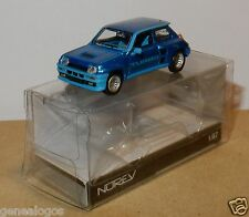 STOP MICRO NOREV HO 1/87 RENAULT 5 TURBO 1980 BLEU METAL IN BOX NEUF