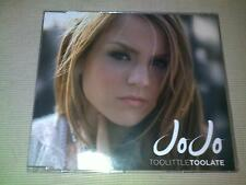 JOJO - TOO LITTLE, TOO LATE - UK CD SINGLE