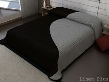 Black Gray 3D crafted Thick Heavy 11 Ibs Super Soft Mink King Size Blanket New