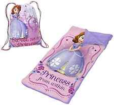 Slumber Bag Set Sleeping Mat Disney Sofia The First Kids Bedtime Carry Travel --