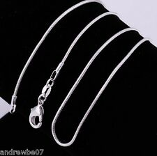 "100% STERLING SILVER 925 CORD STYLE 20"" 1mm NECKLACE CHAIN"