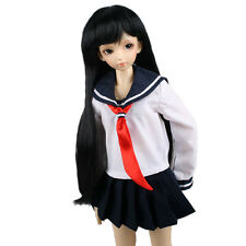 251# Dark Blue Japan School Uniform Anime Lolita Dress 1/4 MSD AOD BJD Dollfie