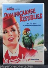 Dominican Republic Vintage Travel Poster - Fridge / Locker Magnet. MartinAir
