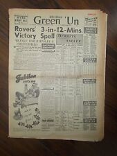 VINTAGE NEWSPAPER GREEN-UN DECEMBER 18th 1954 SHEFFIELD UNITED WIN AT EVERTON